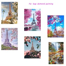 New Design Diy  Diamond Painting City Landscape Full Square Embroidery Home Handicrafts