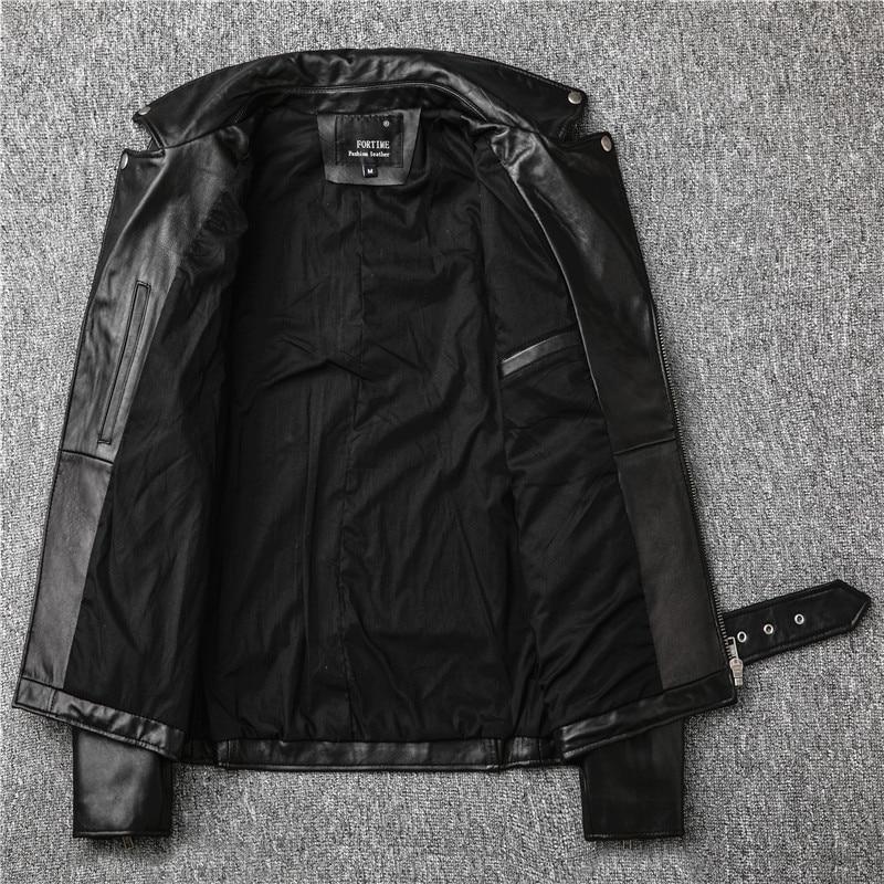 H670f78ba6c2f4c8c8e236a8d5f60bdeeW Free shipping,Sales!Brand new genuine leather jacket.mens motor biker sheepskin coat.slim plus size jackets.leather outwear