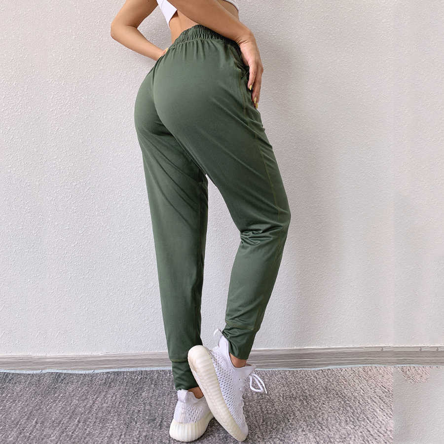 Elastic Waist Drawstring Sprots Pants Loose Workout Trousers High Waisted Sweatpants for Women with Pockets