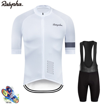 цена на Raphaful 2020 Summer Cycling Jersey Short Pants Set Breathable MTB Cycling Clothing  Ropa Ciclismo Sportswear Suit Bike Jersey