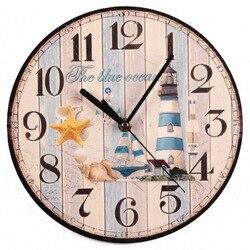 Настенные деревянные часы лаконичный дизайн бесшумные домашние кафе офисные настенные Декор часы для кухни настенные художественные боль...