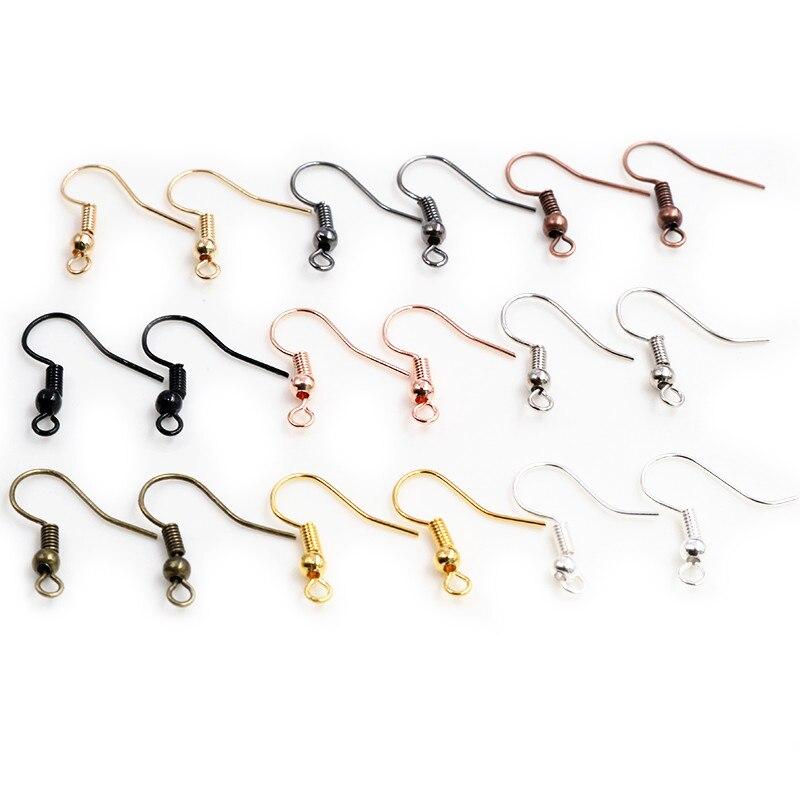 100 шт./лот 20x17 мм фурнитура для сережек, сережки, застежки, крючки, фурнитура, аксессуары для самостоятельного изготовления ювелирных изделий...