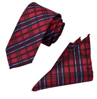 Męskie krawaty w kratkę krawaty Cravats kieszeń kwadratowa chusteczka krawaty zestaw na formalne formalne na wesele tanie i dobre opinie Moda SILK Poliester CN (pochodzenie) Dla dorosłych Szyi krawat zestaw Jeden rozmiar Stałe