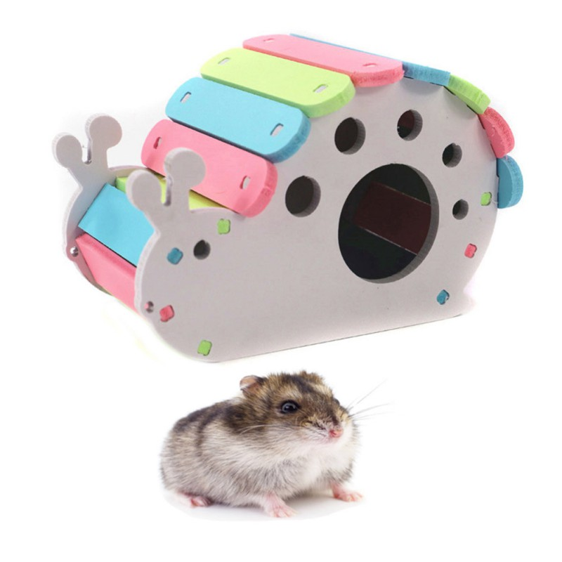 Cartoon Snail Shape Hamster House Hamsters Nest Loft Bed Cage Nest Small Animal Hideout Colorful Hamster Cage Decoration