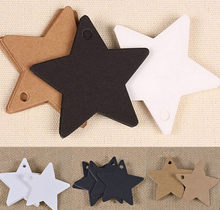 100Pcs 6*6cm Multi-use Star Kraft Paper Label Price Tags Wedding Christmas Halloween Party Favor Gift Card Christmas Decoration(China)