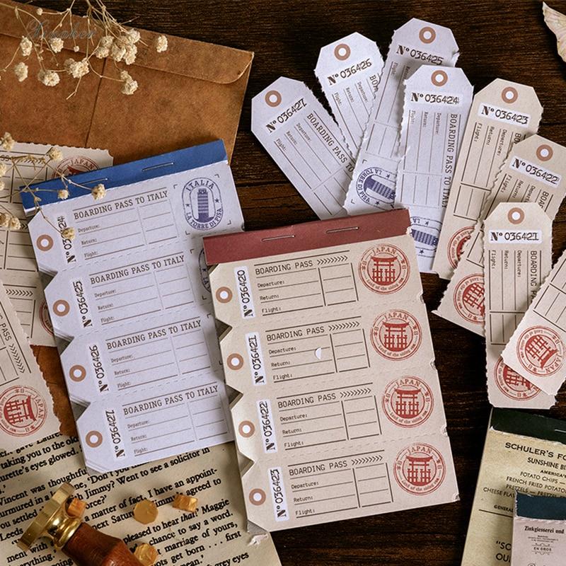 30 листов/партия, винтажная серия купюр, материал для чеков, бумажный блокнот, планировщик для скрапбукинга, ретро декоративные поделки сдел...