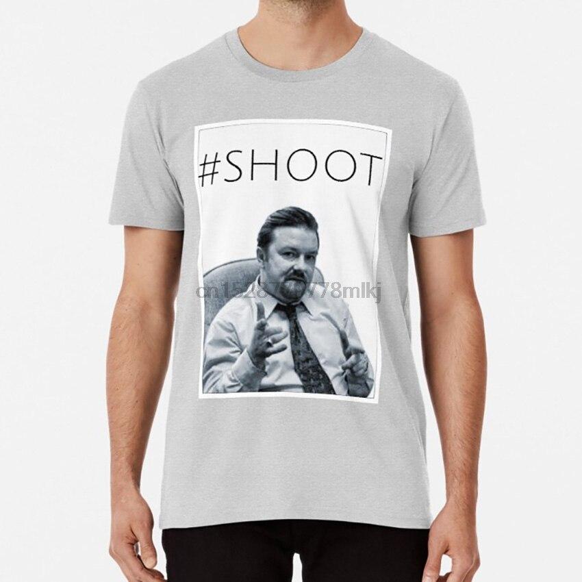 #SHOOT T shirt david brent ricky gervais the office wernham hogg merchandise