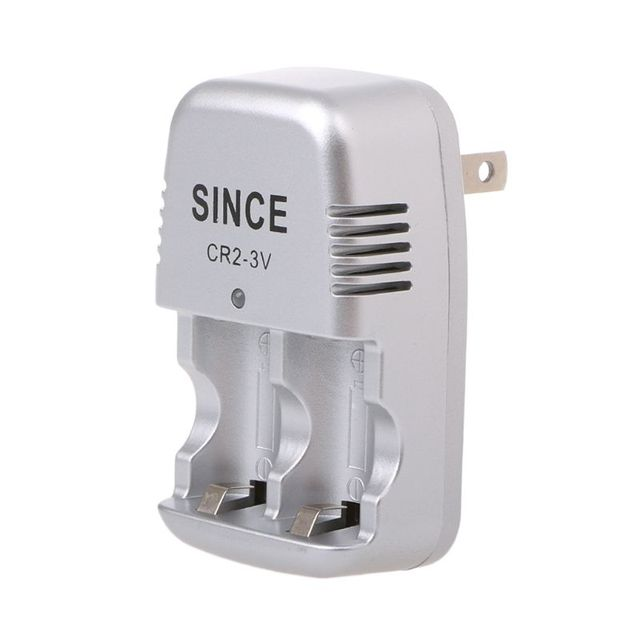 3V Wall Travel Home Wall Charger For CR2 Lithium Rechargeable Battery US Plug