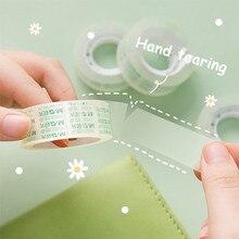 SHARKBANG 2pcs/Lot 12mm 18mm Width PET Transparent Sticker Tape Adhesive Handbook Sticky Hand Tearing Tapes School Suppliers
