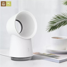 Neueste Youpin HL Glückliches Leben 3 in 1 Mini Lüfter Blattloser Desktop Fan Nebel luftbefeuchter w/ LED Licht
