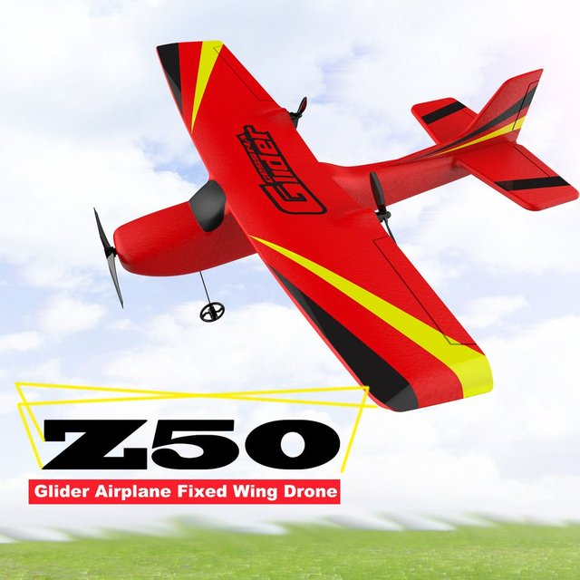 Z50 2.4G 2CH 350mm Micro Wingspan Remote Control RC Glider Airplane Plane Fixed Wing EPP Drone with Built-in Gyro for Kids 1