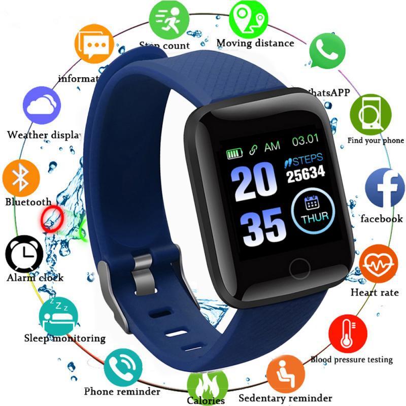 116 mais relógio inteligente d13 pulseira esportes de fitness pressão arterial e freqüência cardíaca chamada mensagem lembrete pedômetro pk d20 d18 b57 r16