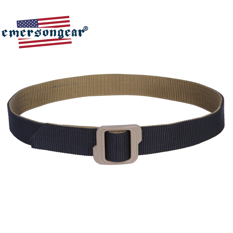 Emersongear Tactical Duty Belt Two Side Used Hunting Shooting Competition Belt Nylon Buckle Mens Waist Belt Black CB