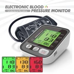 Medical health Upper Arm Automatic Digital Blood Pressure Monitor Wrist Sphygmomanometer BP Monitor Heart Rate Pulse meter