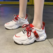Women Comfortable Sneaker Shoes White Sneakers Platform Wedge Shoes For Women Zapatos De Mujer Casual Shoes C0053 8 cm heels white women platform sneakers casual wedges shoes for women white shoes woman plataforma sneaker zapatos de mujer