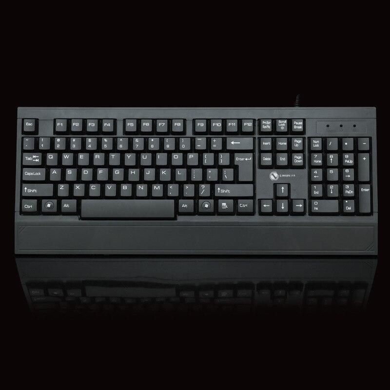 Limei 807 Factory Direct Selling Wired Keyboard USB Business Office Gaming Keyboard Waterproof Large Wrist Splint Keyboard