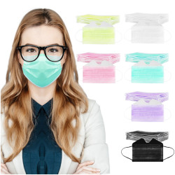 10pc Designer Disposable-masks 3ply Protec Mask For Wearing Glasses Unisex Black White Pink Purple Маски Cosplay Decoration