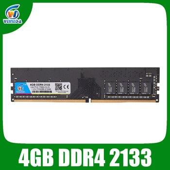 VEINEDA оперативная Память ddr4 4 Гб DDR4-2133 для dimm ddr4 оперативная память Совместимость все Intel AMD Настольный PC4-17000 284pin