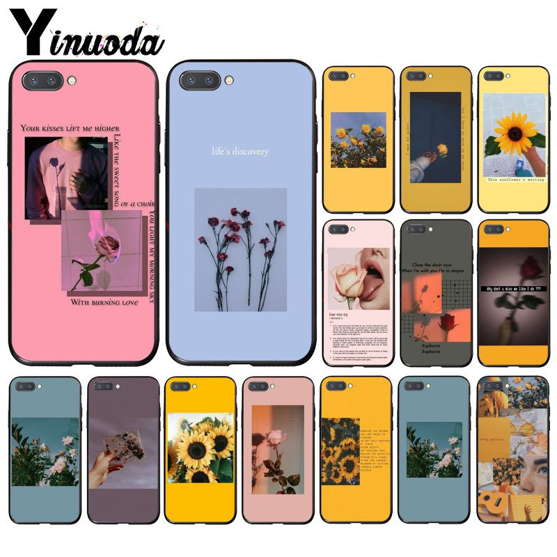 Yinuoda Great Aesthetic Art Pink Yellow Sunflower Rose Phone Case For Huawei Honor 8A 8X 9 10 20 Lite 7A 5A 7C 10i 20i