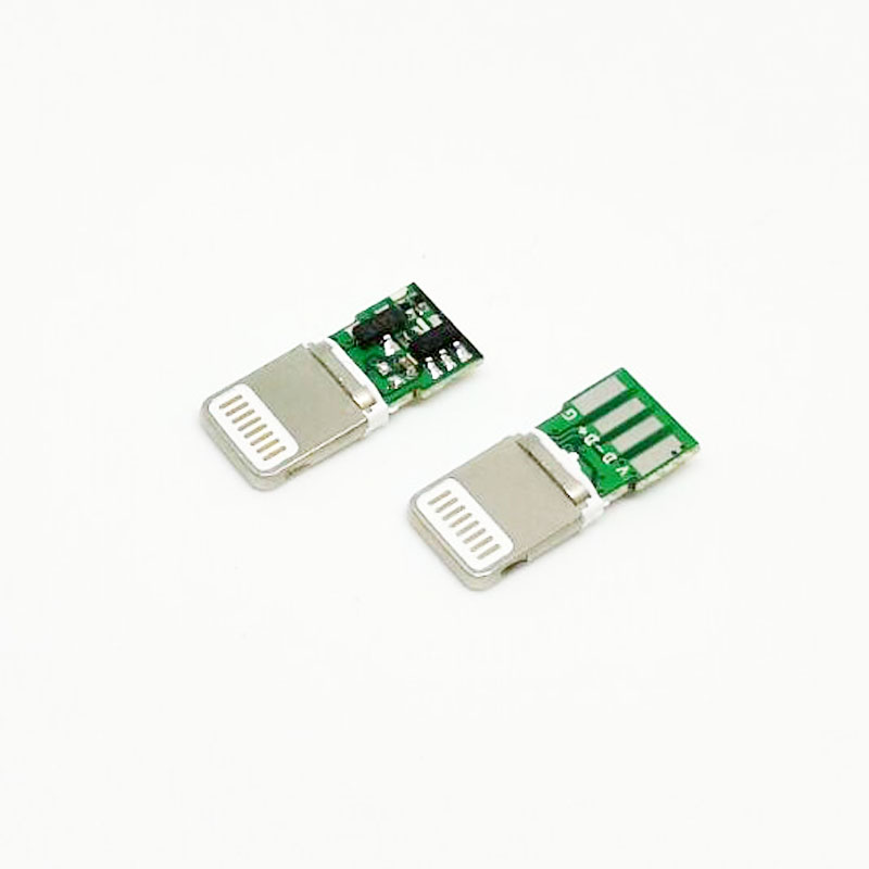10pcs For Iphone Male Plug I5 Male Connector With PCB Board Solder Wire