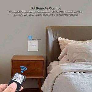 Image 5 - חכם WiFi מתג 3 כנופיית זכוכית פנל אור מגע מתג RF433 חכם חיים Tuya APP שלט עובד עם Alexa google בית