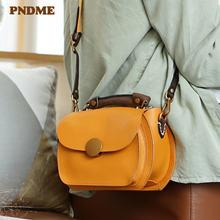Pndme Повседневная роскошная женская маленькая сумка из натуральной