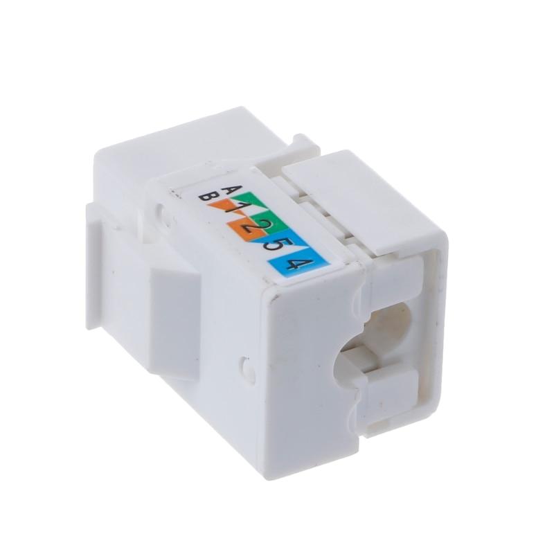 CAT6 Network Module Information Socket RJ45 Connector Adapter Keystone Jack H37E