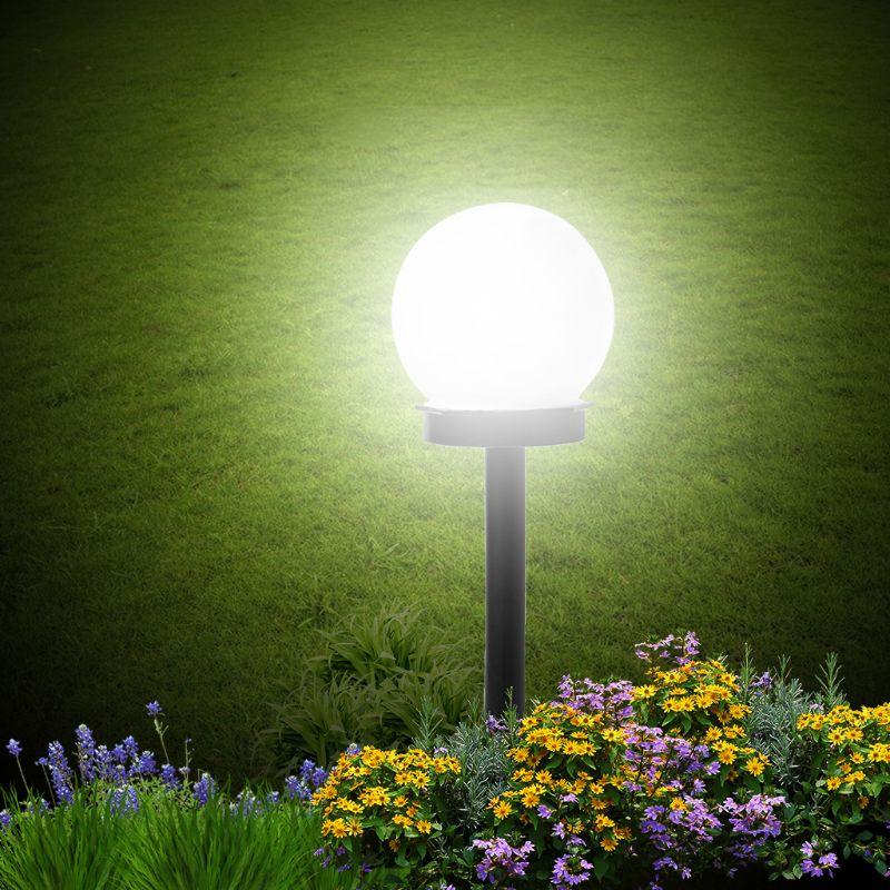 2pcs Outdoor LED Lawn Lamps Waterproof Solar Energy Landscape Lights For Yard Garden Street E65B