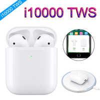 I10000 tws 1:1 6D bajo emergente carga inalámbrica auriculares Bluetooth 6D súper bajo pk W1 i80 i200 i2000 i5000 i9000 tws