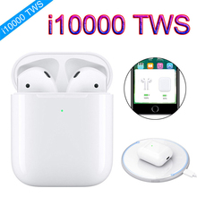 i10000 tws 1:1 Pop Up Wireless Charging Bluetooth Earbuds Earphone Origial pk W1 i30 i60 i80 i200 i1000 i2000 i5000 i9000