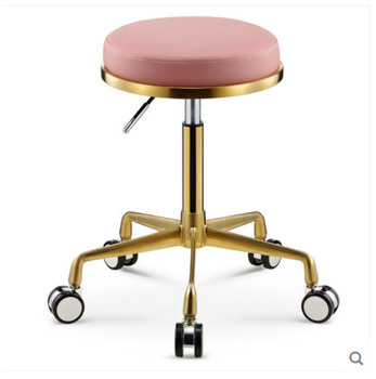 Beauty stool barber\'s chair swivel lift bench pulley round stool makeup salon haircut stool