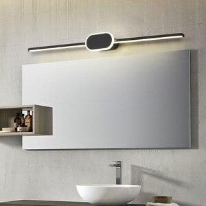 Image 3 - สีดำ/สีขาวโมเดิร์นไฟ LED กระจกเงา 0.4M ~ 0.8M โคมไฟติดผนังห้องนอน headboard Wall sconce Lampe anti FOG espelho ในห้องน้ำ