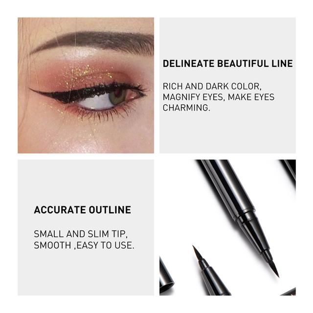 STAGENIUS 1pcs Eyeliner Pencil Waterproof Black Natural Super Long Lasting Makeup Liquid Eye Liner Pen 2