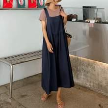 ZANZEA – robe ample sans manches, Sexy, col carré, couleur unie, fête, plage, coton, femmes, été, 2021, 2021