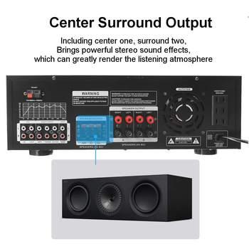 Усилитель мощности SUNBUCK AV-502BT, количество каналов: 7 (6.1), USB, FM 5