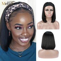Mellow 4x4 dentelle fermeture perruque cheveux humains perruque 150% densité brésilienne cheveux humains dentelle avant perruques avec des cheveux de bébé