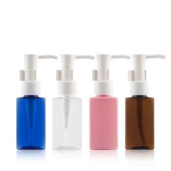50ML 48pcs/lot Pink PET Essential Oil Pump Bottle,Square Plastic Cosmetic Container, Empty Shampoo Sub-bottling,Lotion Bottle