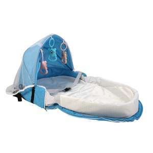 Babytravel-Bed with Toys Mosquito-Net Sleeping-Basket Sun-Protection Infant Breathable
