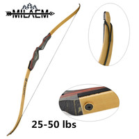 62 inch Archery Recurve Bow 25/30/35/40/45/50 lbs American Hunting Bow Wooden Bamboo Limbs Traditional Long Bow Shooting