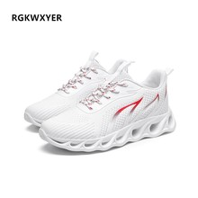 New Elegant Mens Casual Shoes Hot Sale Breathable Sports Shoes Mesh Running Shoes Men Black Flats Trend Men's Shoes Size 39-46