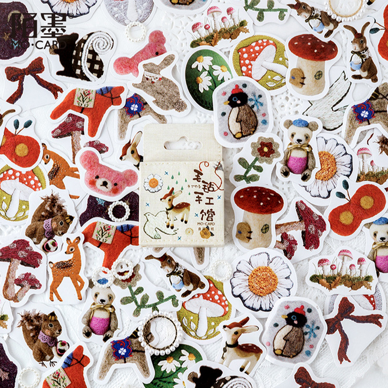 46 Pcs/lot Forest Animals Mini Paper Sticker Decoration Stickers DIY Diary Scrapbooking Planner Label Sticker Kawaii Stationery