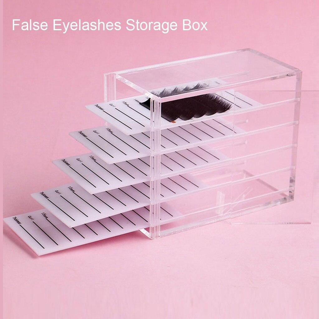 New Professional Transparent Travel False Eyelashes Storage Box 5 Layers Extension Individual Lash Display Stand Tools Y822