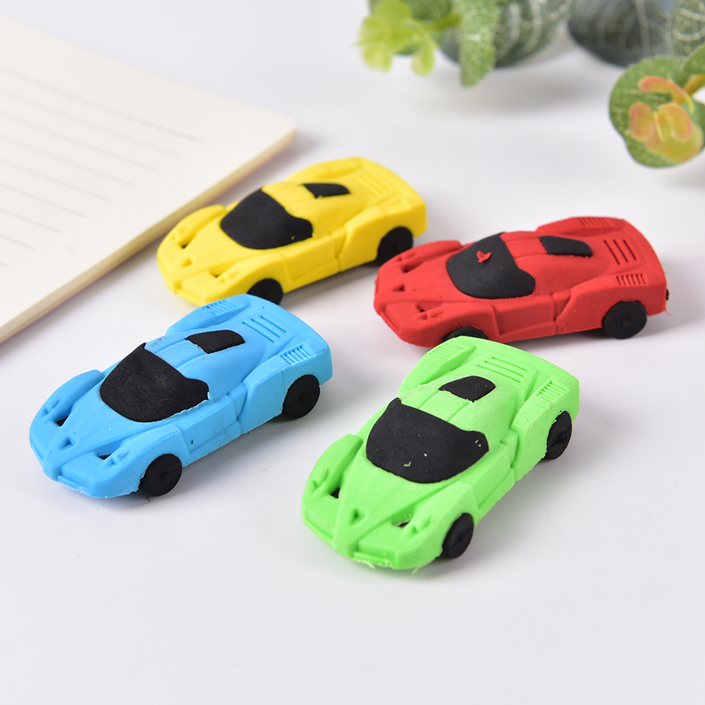 Novelty 3D Small Car Rubber Eraser Kawaii Creative Stationery School Office Supplies Gifts For Kids Boy Toy