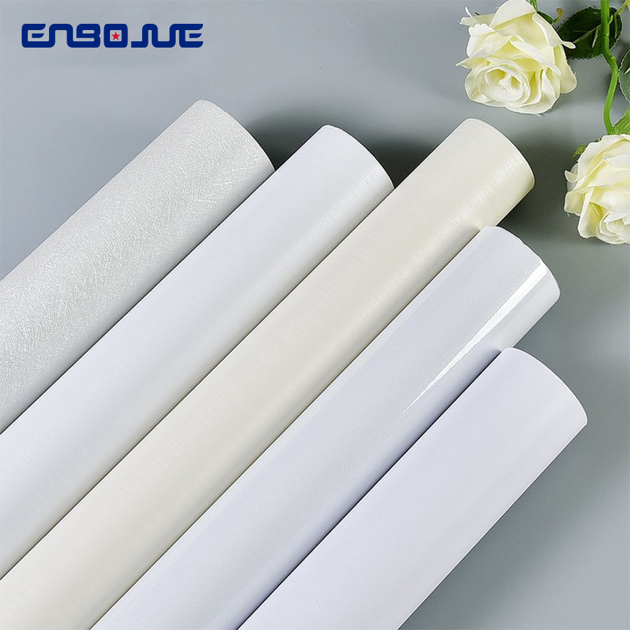 Waterproof Moisture-proof Wallpaper Self-adhesive White Decorative Film Closet Door Table Old Furniture Renovation Wall Stickers