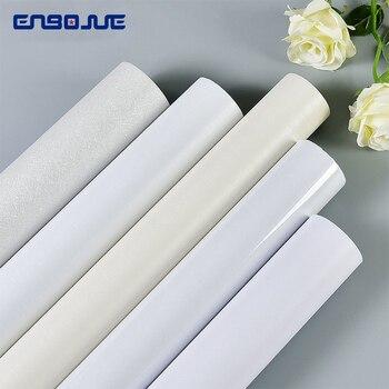 Waterproof Moisture-proof Wallpaper Self-adhesive White Decorative Film Closet Door Table Old Furniture Renovation Wall Stickers