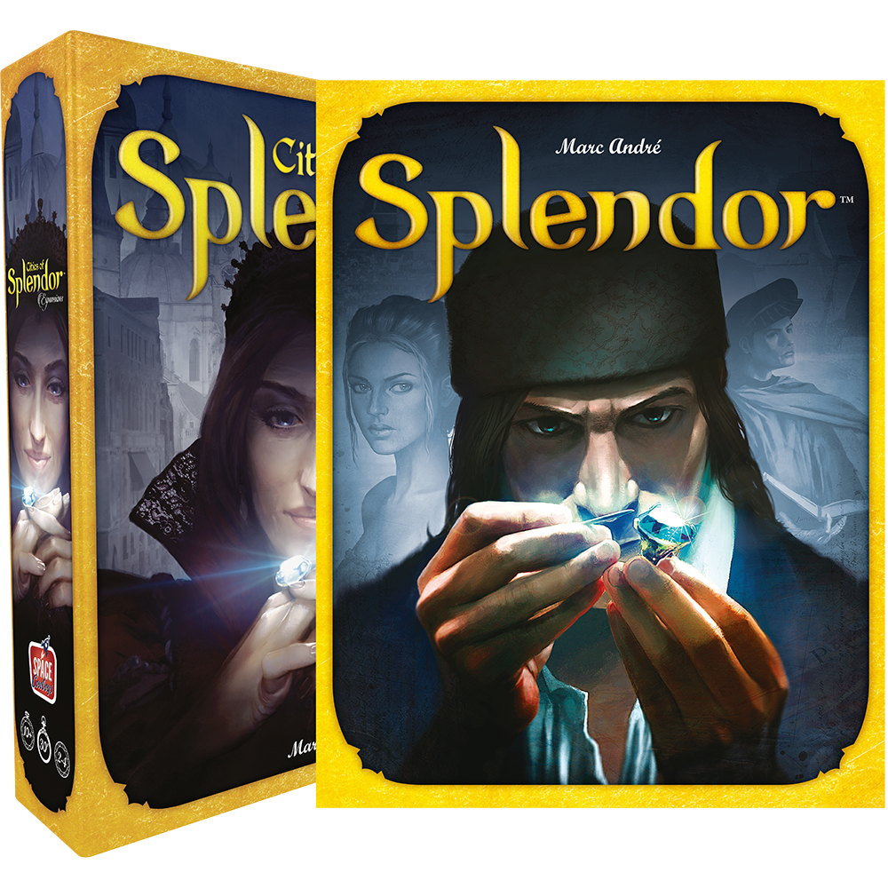 Splendor Base Board Game First-Ever Splendor: Cities Of Splendor Expansion Cardboard Players: 2 To 4 Playmat