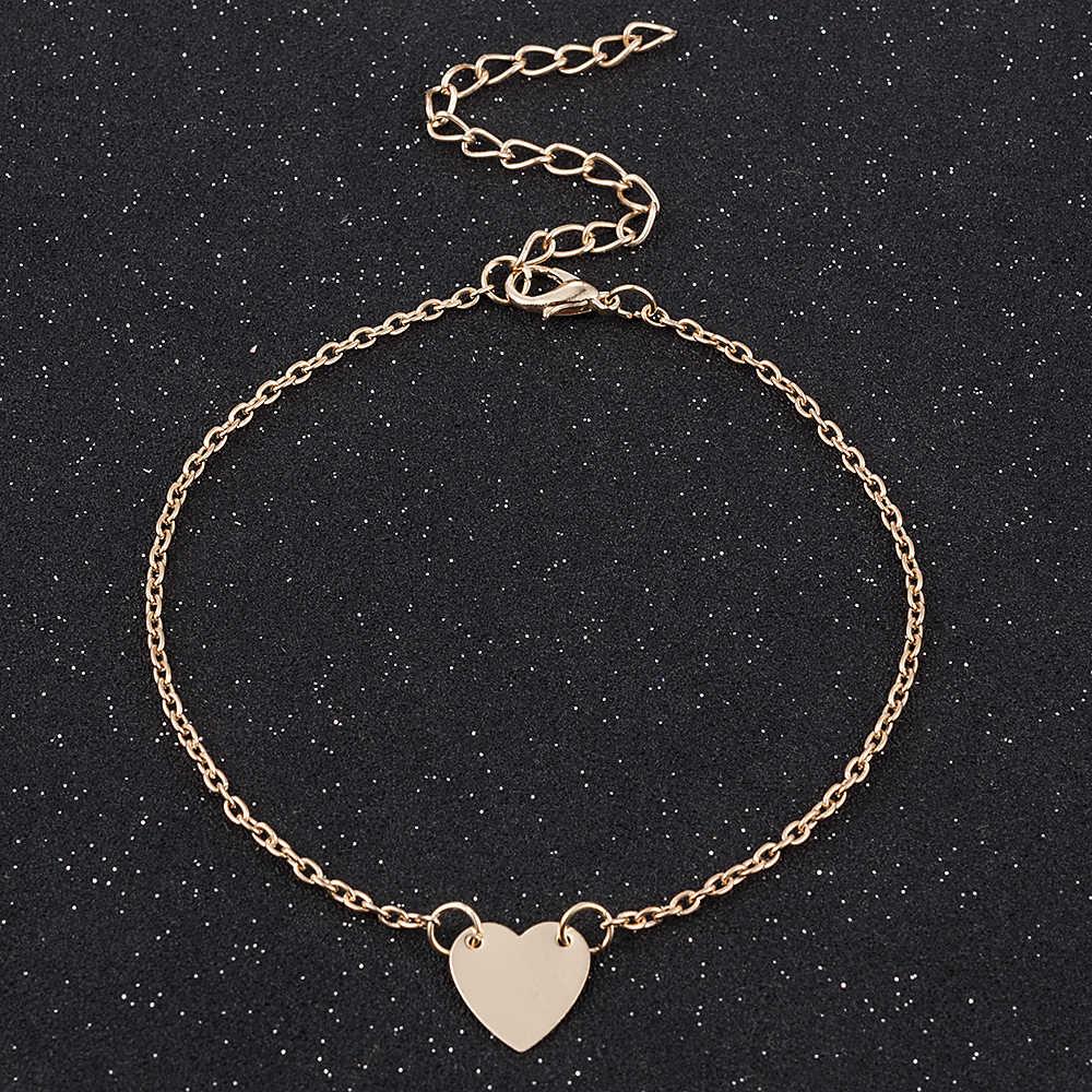 Gorąca sprzedaż proste urocze serce bransoletki bransoletki dla kobiet dziewczyn złoty srebrny kolor metalowe bransoletki oświadczenie biżuteria hurtowych