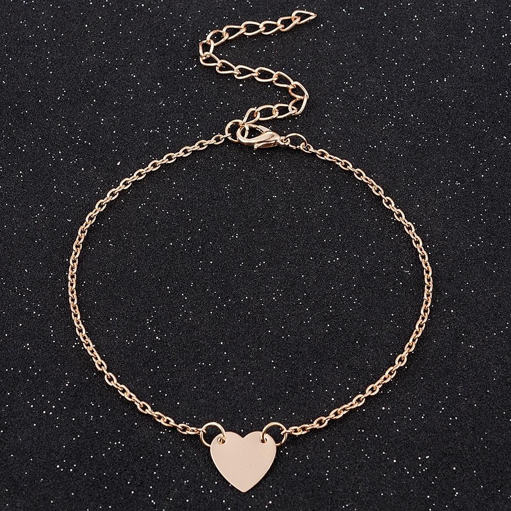 Горячая Распродажа, простые очаровательные браслеты с сердцем, браслеты для женщин и девочек, золотые металлические браслеты, массивные юв...