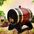 Деревянная бочка для вина 1,5 л, дубовое пивоваренное оборудование, мини-бочка для домашнего пивоварения, Пивоваренная бочка, дозатор для кас...