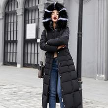 Women Thickening Long Sleeve Jacket Hooded Warm Down Coat Long Winter Casual With Hat Cotton-padded цены онлайн